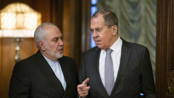 Главы МИД Ирана и России Мухаммад Джавад Зариф и Сергей Лавров, фото из архива - Sputnik Азербайджан