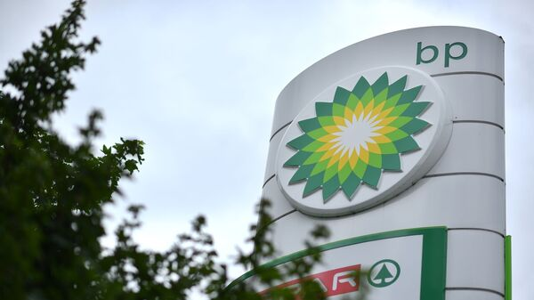 Логотип компании BP на автозаправочной станции, фото из архива - Sputnik Азербайджан