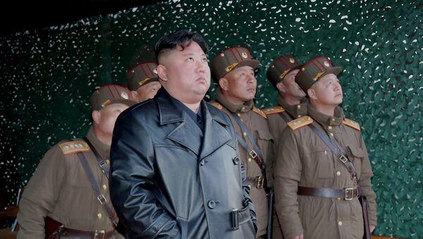 Лидер КНДР Ким Чен Ын, фото из архива - Sputnik Azərbaycan