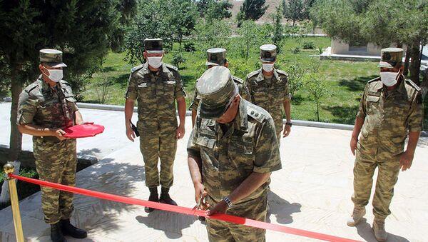 Открытие новой воинской части ВВС Азербайджана - Sputnik Азербайджан