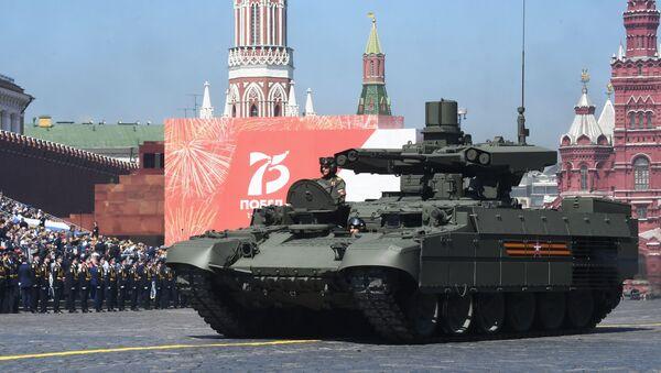 Боевая машина поддержки танков (БМПТ) Терминатор во время военного парада Победы - Sputnik Азербайджан