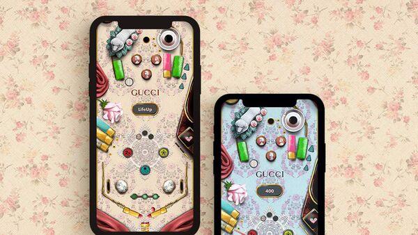 Gucci выпустили бьюти-пинбол, в который можно сыграть на сайте бренда - Sputnik Азербайджан