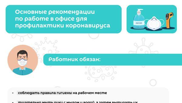 Инфографика: Правила поведения в офисе при коронавирусе - Sputnik Азербайджан