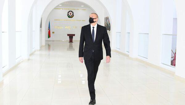Ильхам Алиев принял участие в открытии Музея государственной символики в Мингячевире - Sputnik Азербайджан