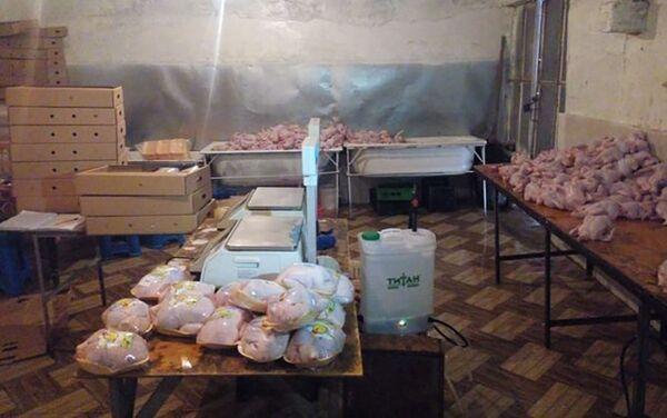 Цех по обработке курятины в Сиязане - Sputnik Азербайджан