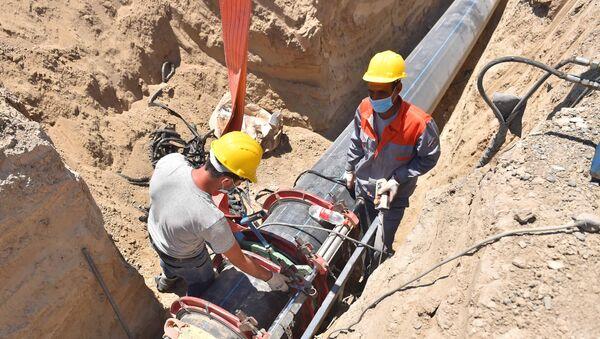 Реконструкция  систем водоснабжения и канализации в Нефтчале - Sputnik Азербайджан