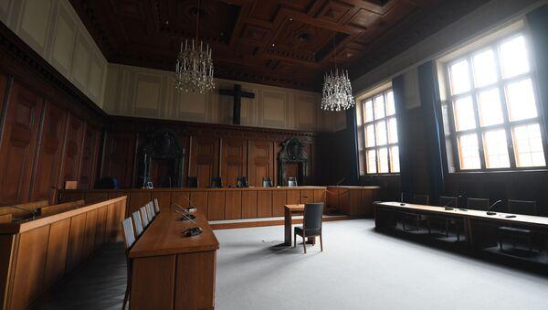 Зал суда № 600 в Нюрнберге - Sputnik Azərbaycan