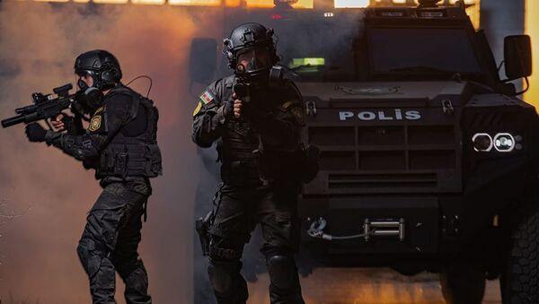 DİN-in xüsusi təyinatlı polis dəstəsi, arxiv şəkli - Sputnik Азербайджан