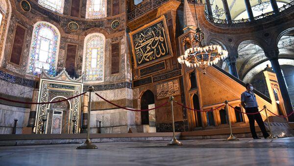 Собор Святой Софии в Стамбуле, фото из архива - Sputnik Azərbaycan