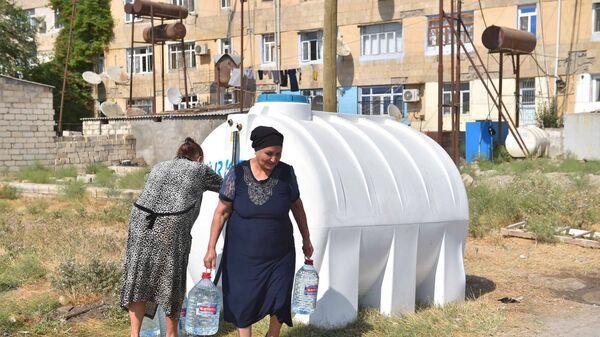Водные резервуары, установленные в Нефтчале - Sputnik Азербайджан