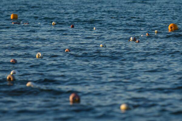 Никто не заплывал за буйки. - Sputnik Азербайджан